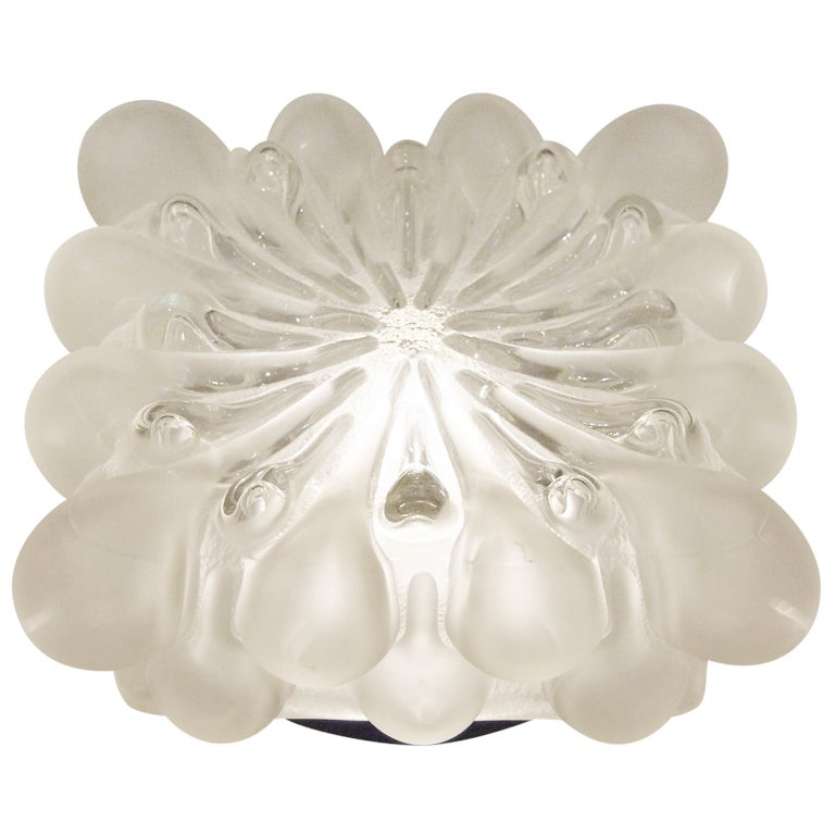 Unique Frosted Bubble Light Flush Mount  For Sale