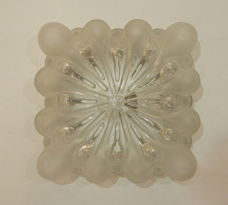 Glass Unique Frosted Bubble Light Flush Mount  For Sale