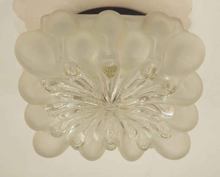 20th Century Unique Frosted Bubble Light Flush Mount  For Sale
