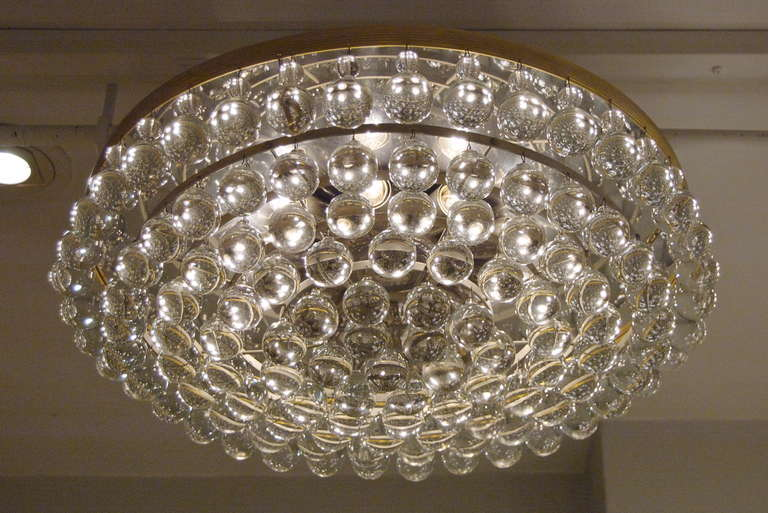 Large And Beautiful Christoph Palme Flush Mount Chandelier With