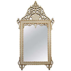 Moroccan Mother-of-Pearl and Bone Inlaid Mirror