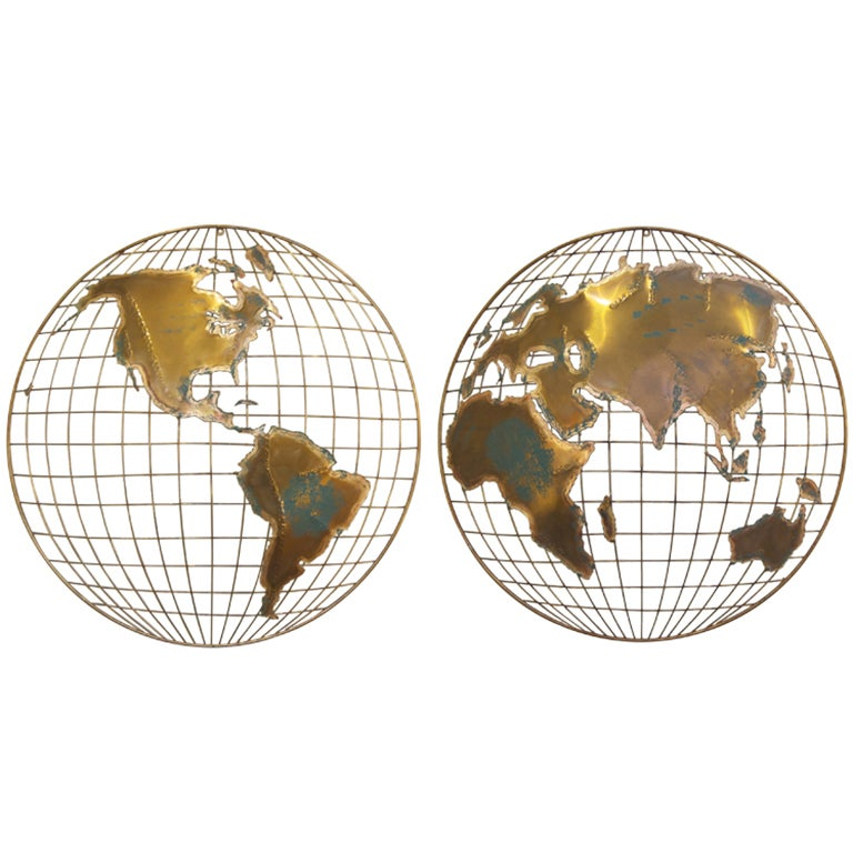 Curtis jere world map sculpture at 1stdibs curtis jere world map sculpture for sale gumiabroncs Image collections