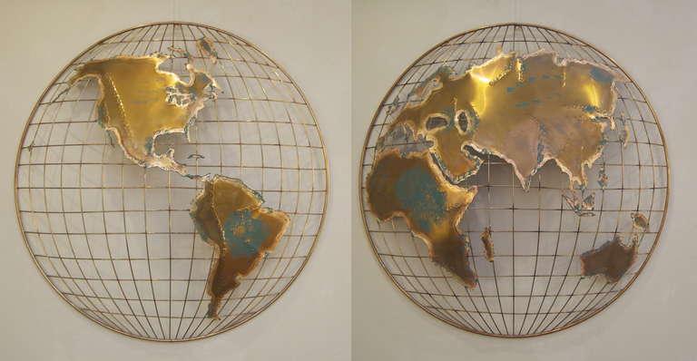 Metal Globe Wall Art | Sevenstonesinc.com