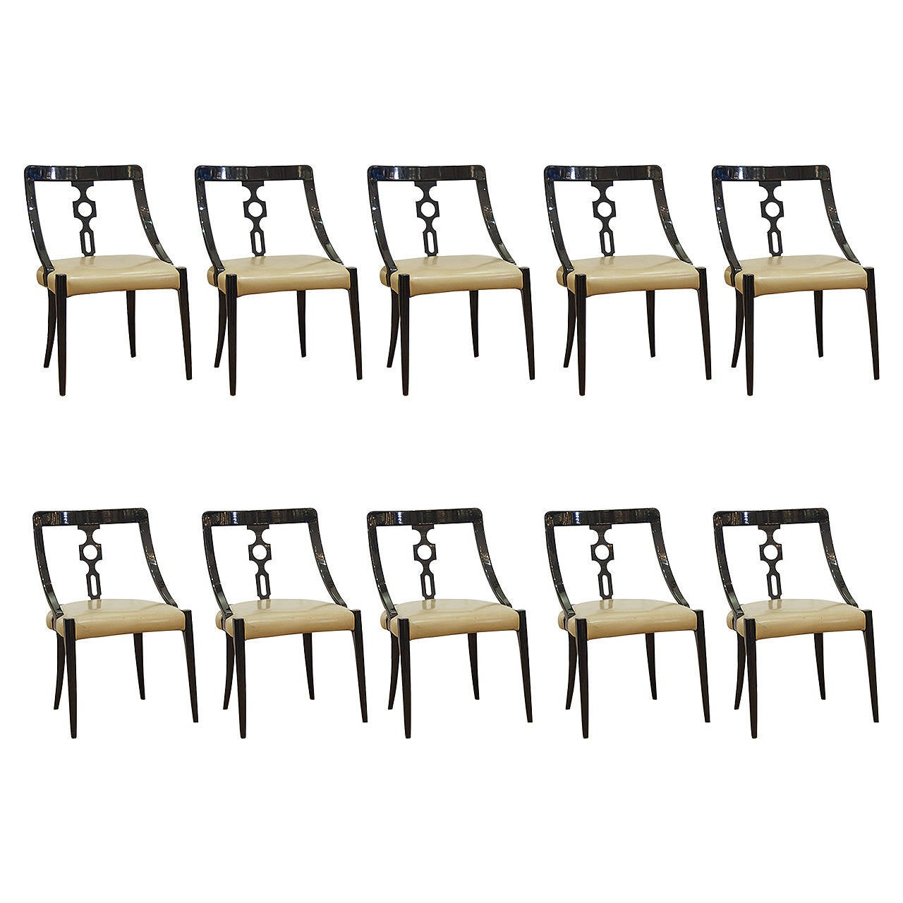 black lacquer dining room chairs Sand the walls
