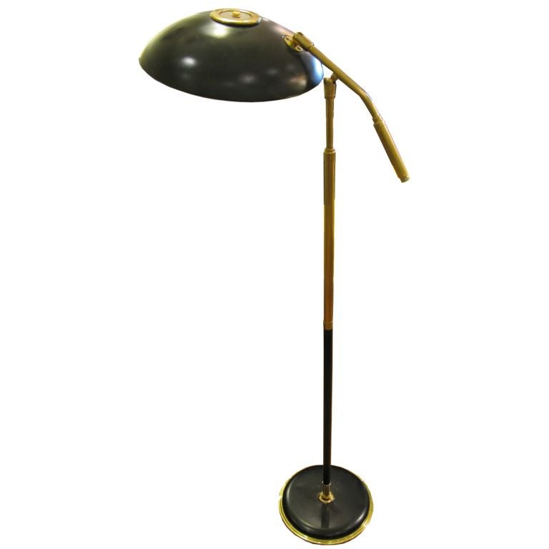 this mid century swivel standing floor lamp in the style of stilnovo. Black Bedroom Furniture Sets. Home Design Ideas