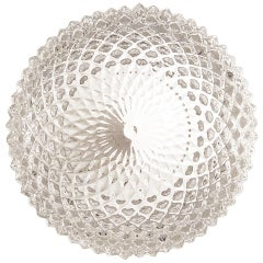 Petite Glass Faceted Flush Mount