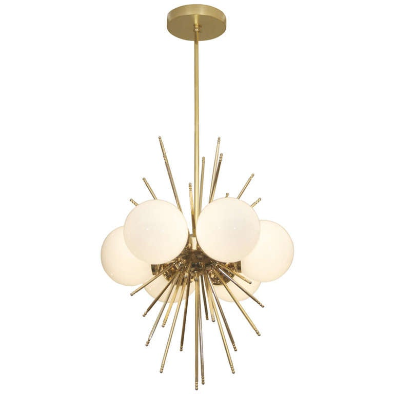 Unusual French Chandelier with Sputnik Form at 1stdibs