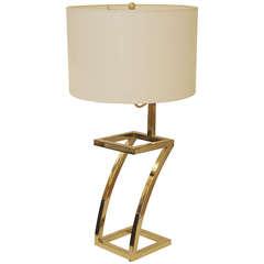 Brass Z Lamp