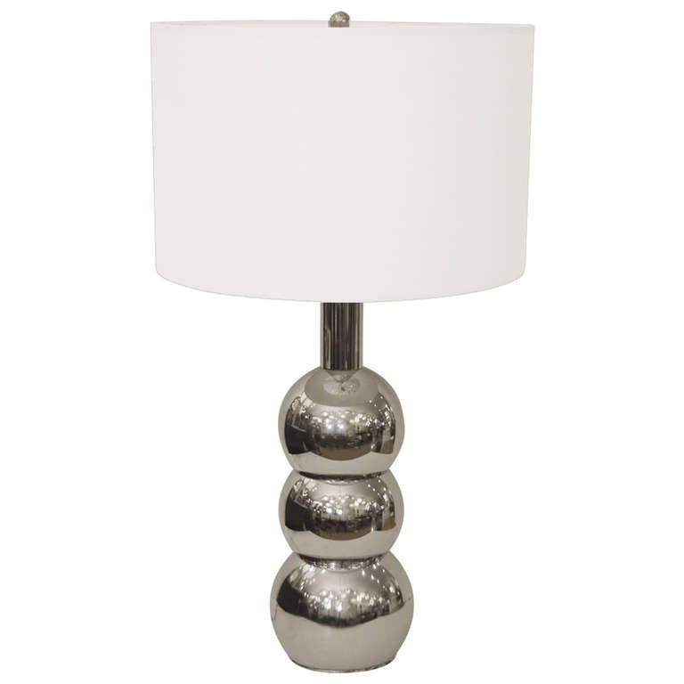 Kovacs Style Stacked Chrome Orb Table Lamp