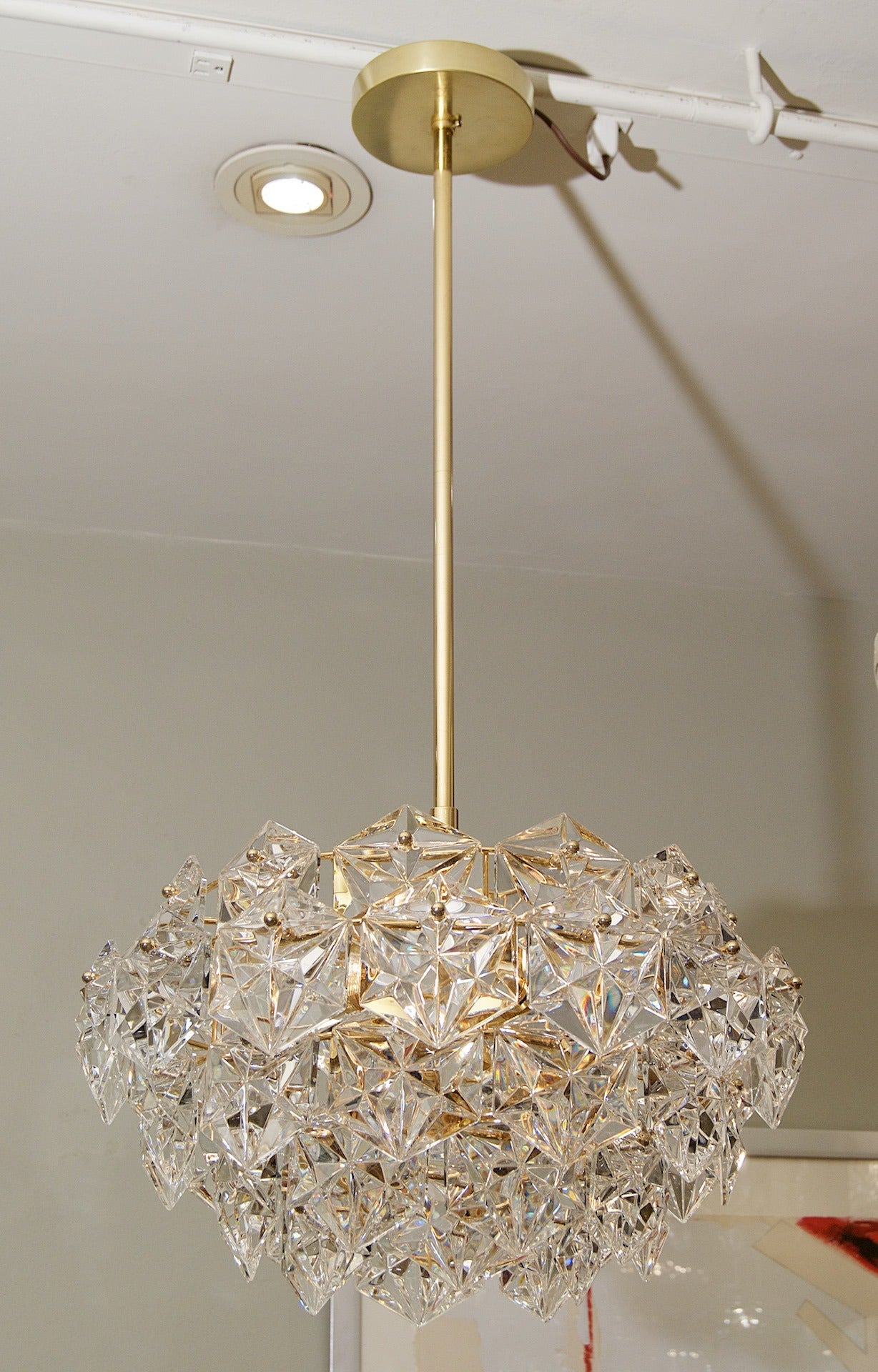 Kinkeldey multi tiered crystal chandelier at 1stdibs elegant five tier chandelier with simple cut crystals and gold plating take six e aloadofball Gallery