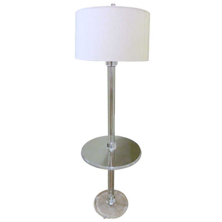Lucite Standing Table Lamp At 1stdibs