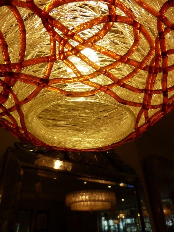 Lucite Spaghetti Globe Hanging Light At 1stdibs