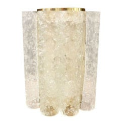 Tube Glass and Brass Doria Wall Sconce