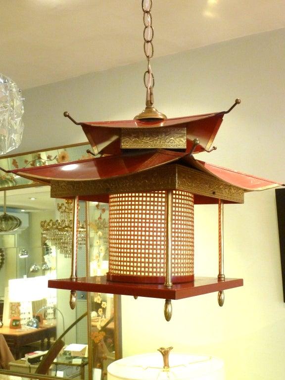 Red Pagoda Chinese Lantern at 1stdibs – Chinese Lantern Chandelier