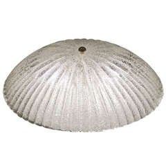 Elegant Scalloped Flush Mount