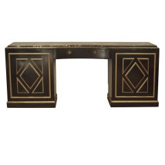 Grand Scale Black Lacquer Jansen Style Server/Sideboard