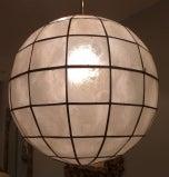 capiz globe pendant light at 1stdibs. Black Bedroom Furniture Sets. Home Design Ideas