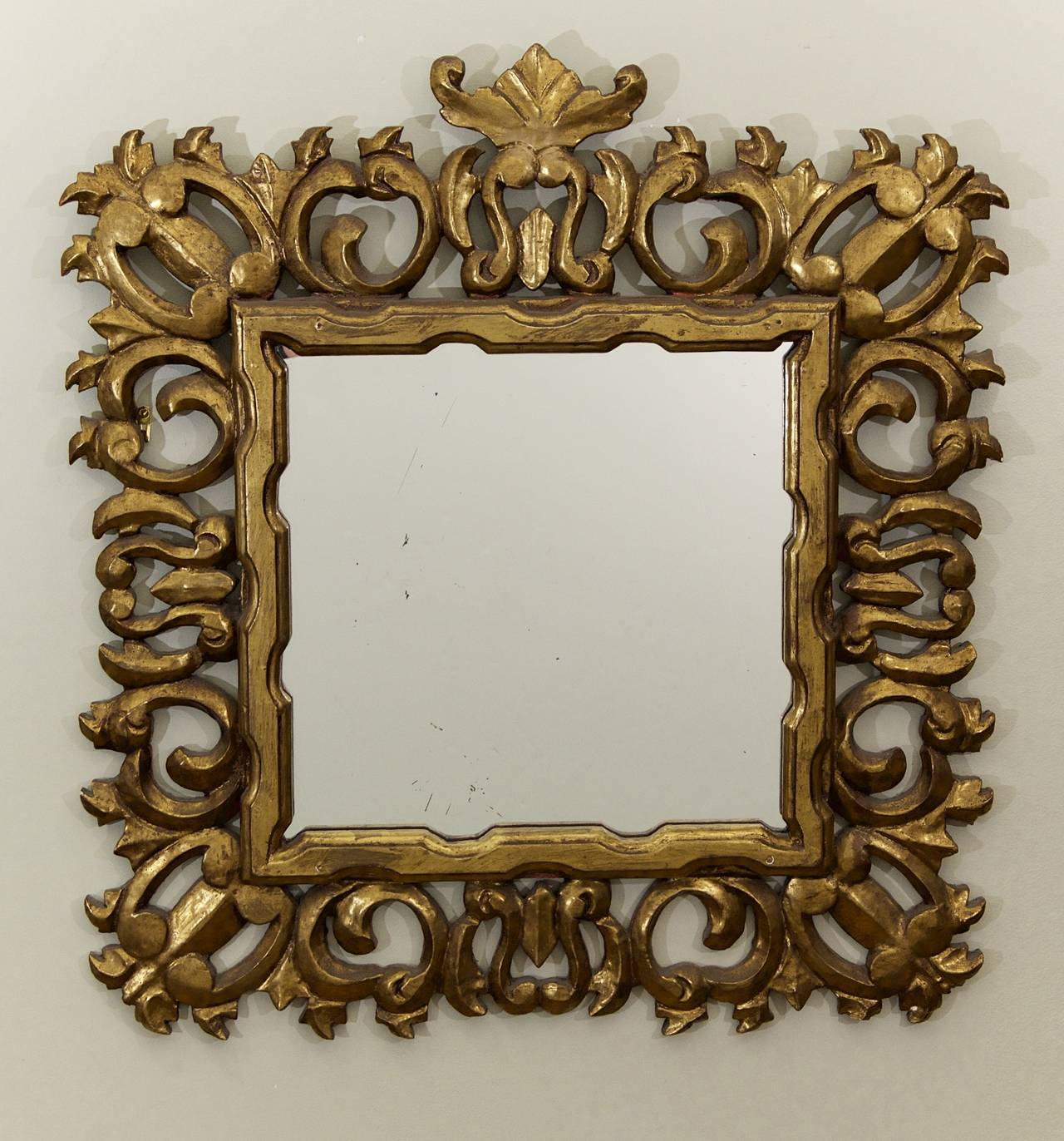 Hollywood Regency Giltwood Mirror 2