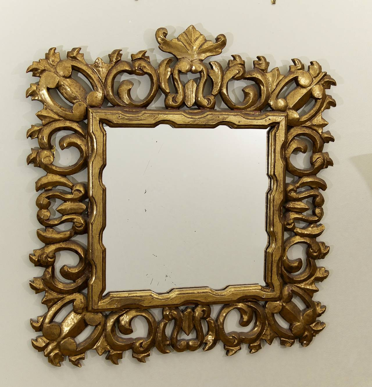 Hollywood Regency Giltwood Mirror 3