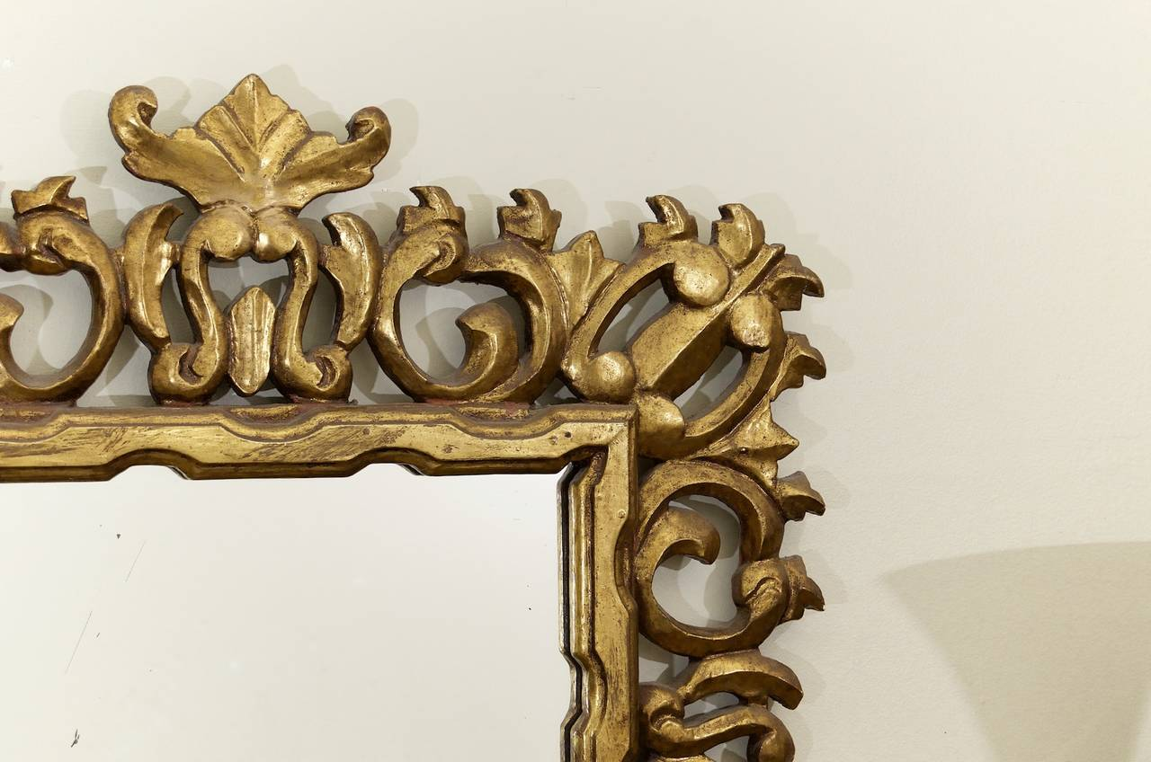 Hollywood Regency Giltwood Mirror 4