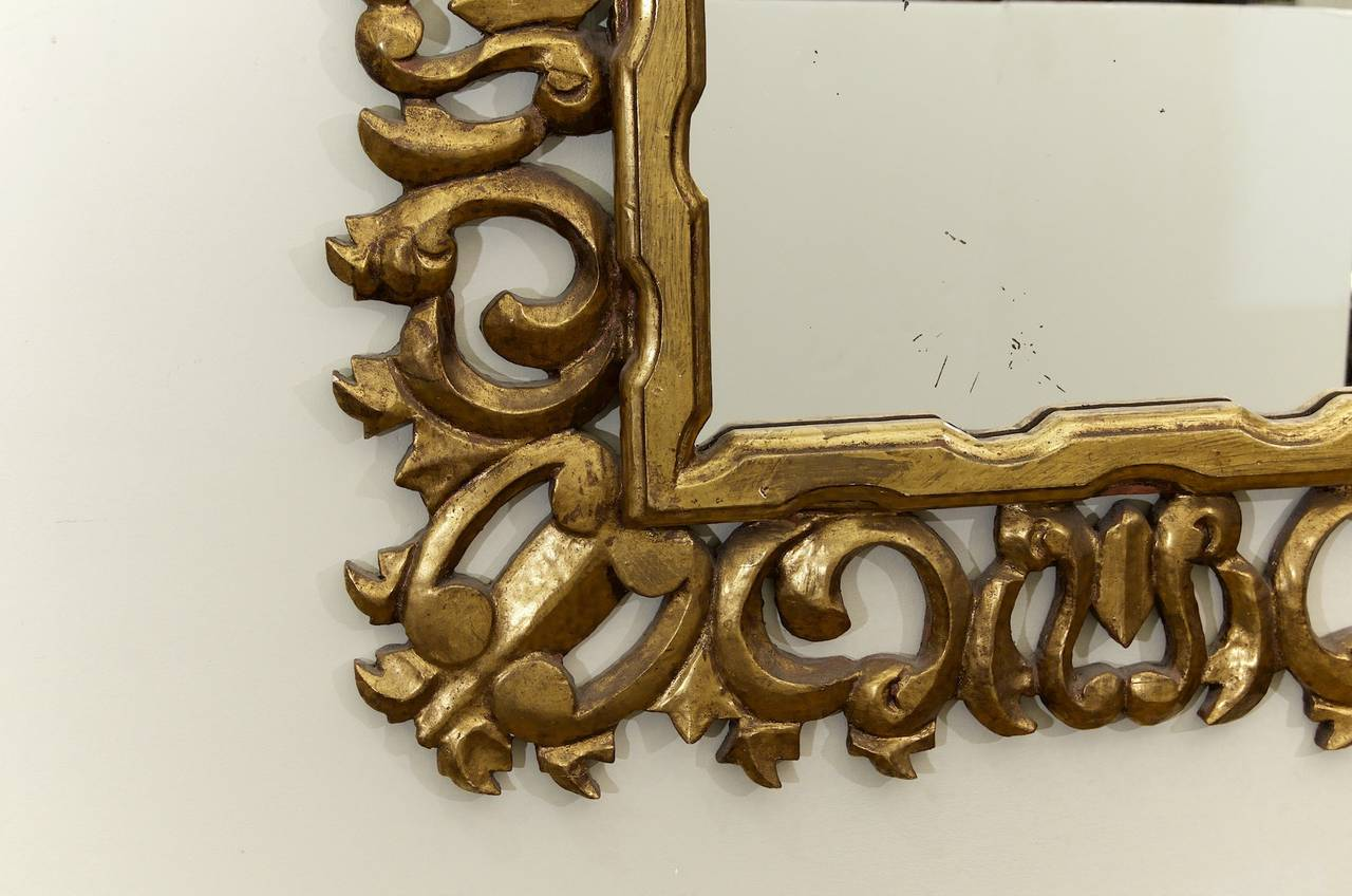 Hollywood Regency Giltwood Mirror 5