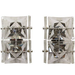 Pair of Kinkeldey Crystal Sconces