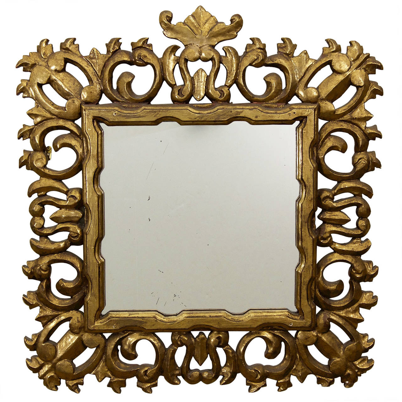 Hollywood Regency Giltwood Mirror 1