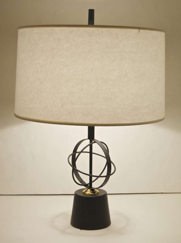 Pair of Astrolabe Form Mid-Century Table Lamps 2