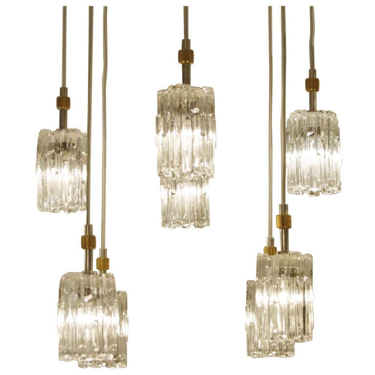 glass pendant chandelier at 1stdibs