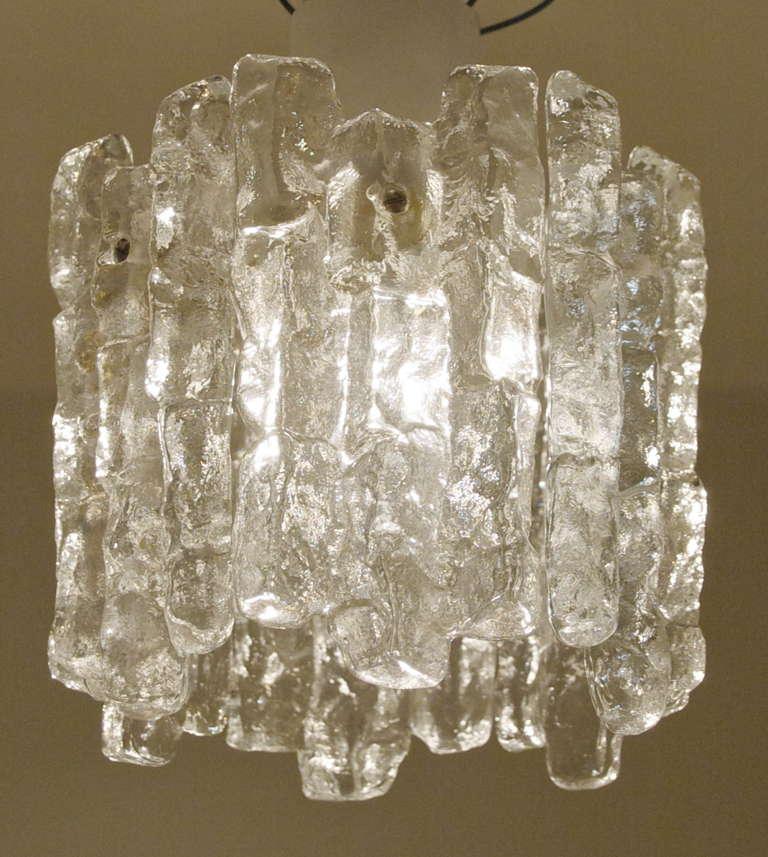 Kalmar Ice Glass Pendant At 1stdibs
