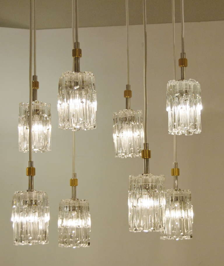 Ice Glass Pendant Chandelier For Sale At 1stdibs