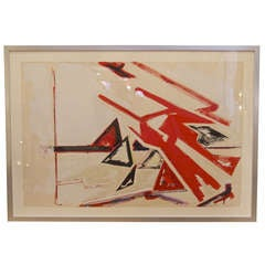 Framed Abstract Painting by Dennis Ashbaugh