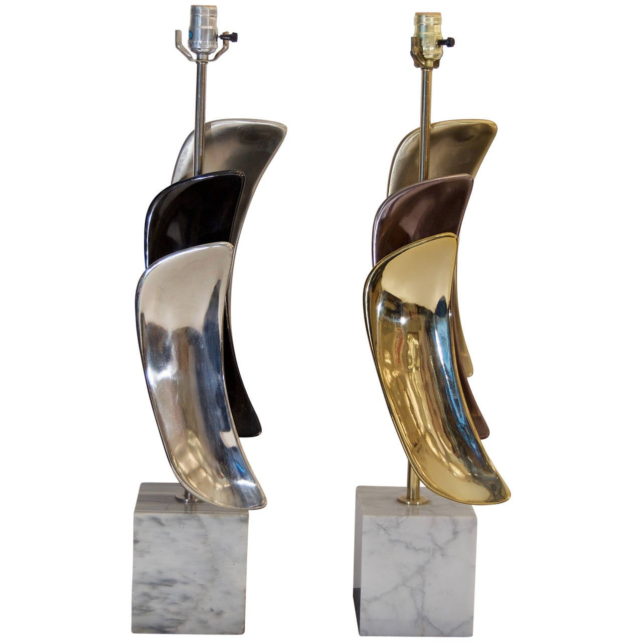 Pair of Sculptural Laurel Table Lamps