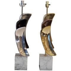 Pair of Sculptural Laurel Table Lamps
