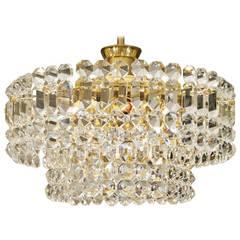 Kinkeldey Goldplate Grid Crystal Chandelier