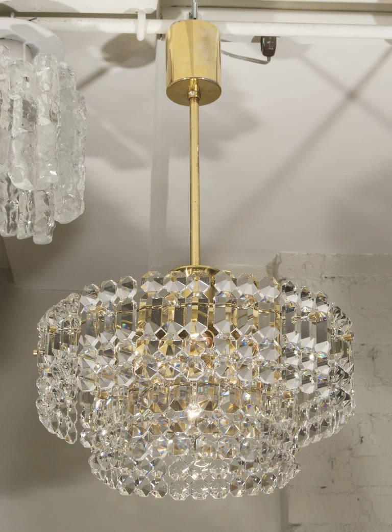 Kinkeldey Goldplate Grid Crystal Chandelier 3
