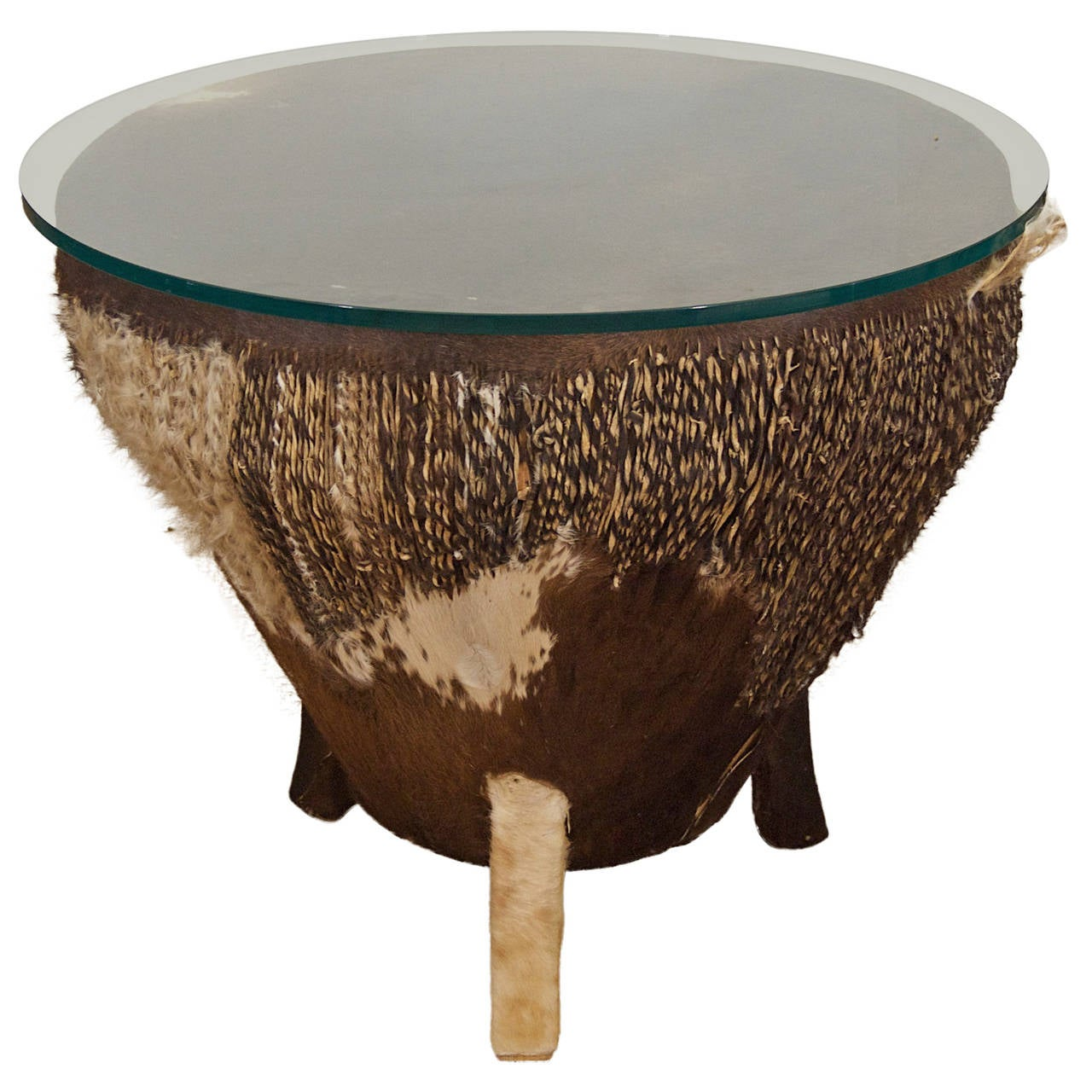 African Drum Coffee Table For Sale