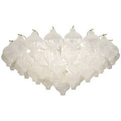 Grand Scale Kalmar Tulipan Flush Mount Chandelier