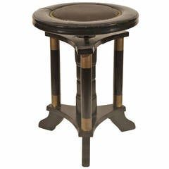 Secessionist Ebonized Stool