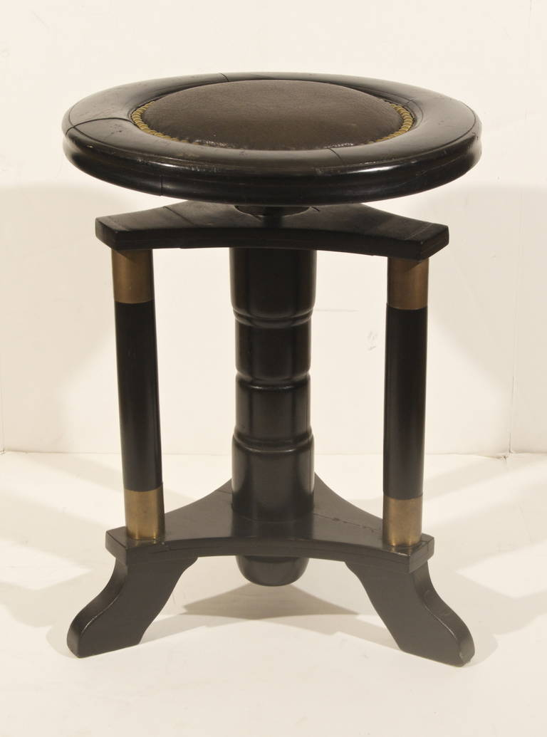 Secessionist Ebonized Stool For Sale At 1stdibs