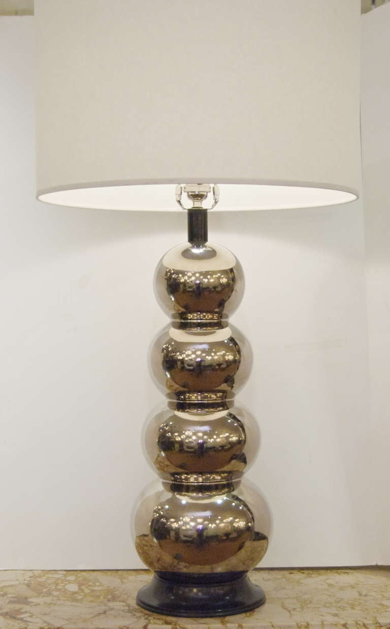 Glaze Ceramic Stacked Ball Table Lamp For Sale At 1stdibs