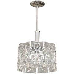 Dramatic Two Tier Kinkeldey Chandelier with Square Crystals