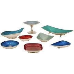 Reed & Barton Color-Glaze Silverplate Bowls