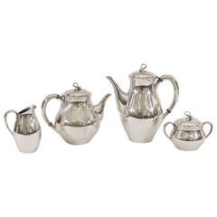 "Reed & Barton ""Americana"" Silverplate Tea & Coffee Service"