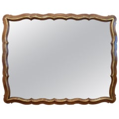 Generous Scalloped Mirror by Widdicomb