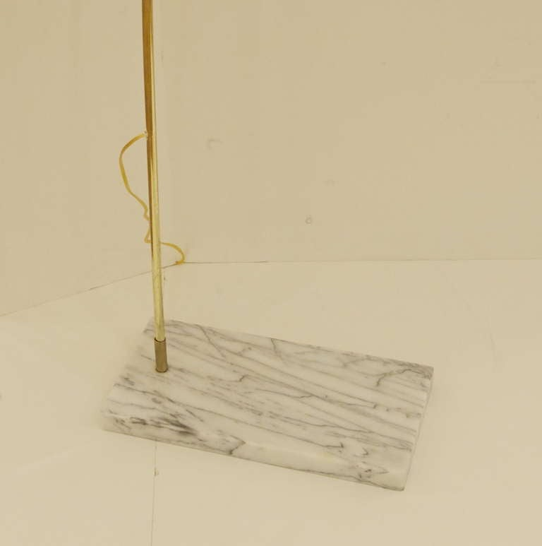 Brass Arc Lamp With Marble Base At 1stdibs