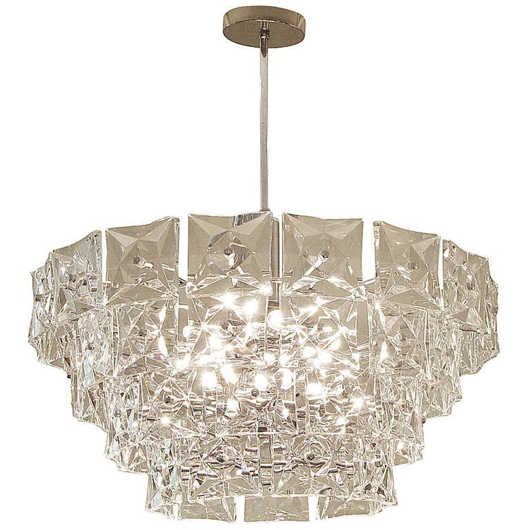 Massive And Dramatic Kinkeldey Chandelier With Square