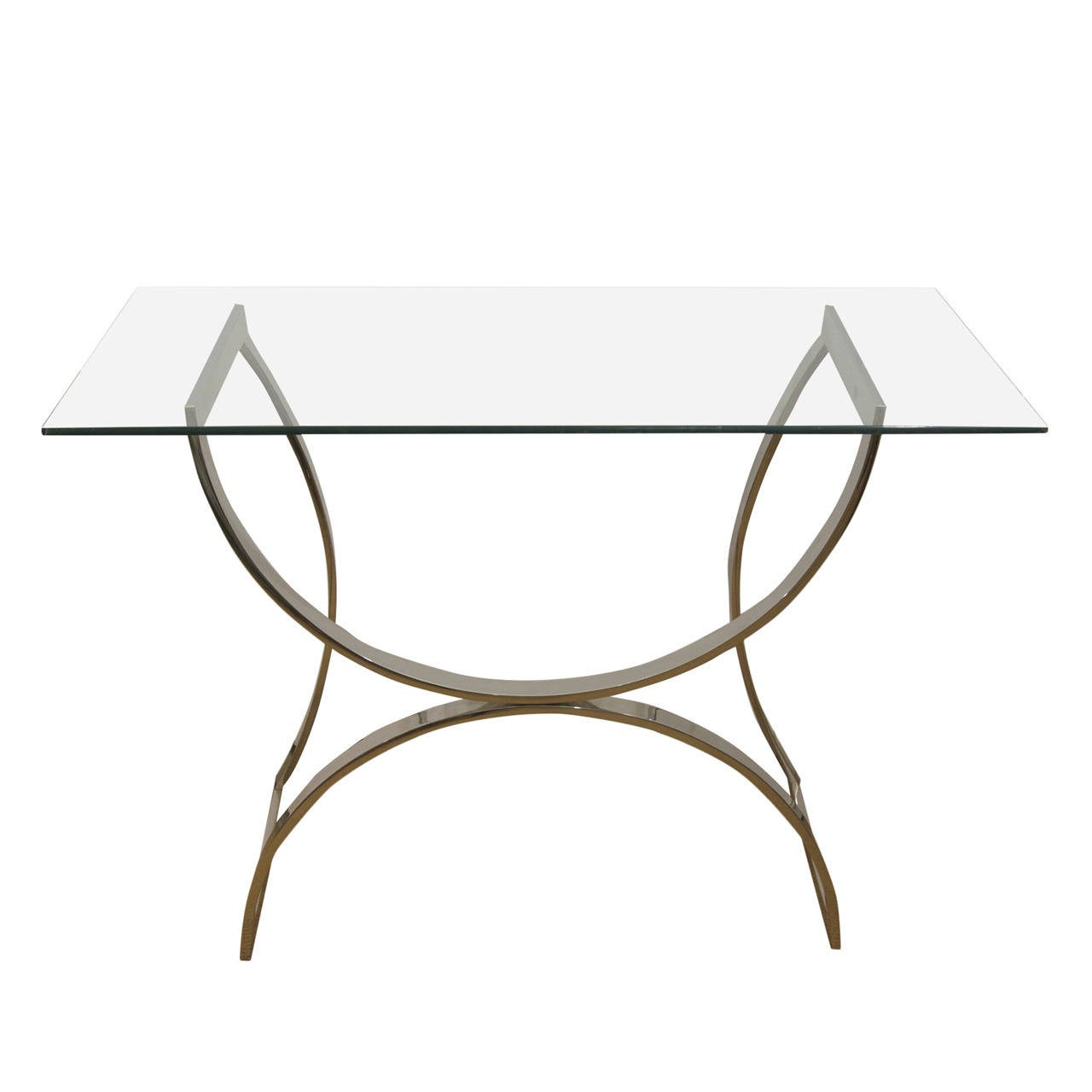 Desk/Console with Arched Chrome Base