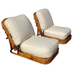 "Original Gabriella Crespi ""Rising Sun"" Collection Reclining Lounge Chairs"