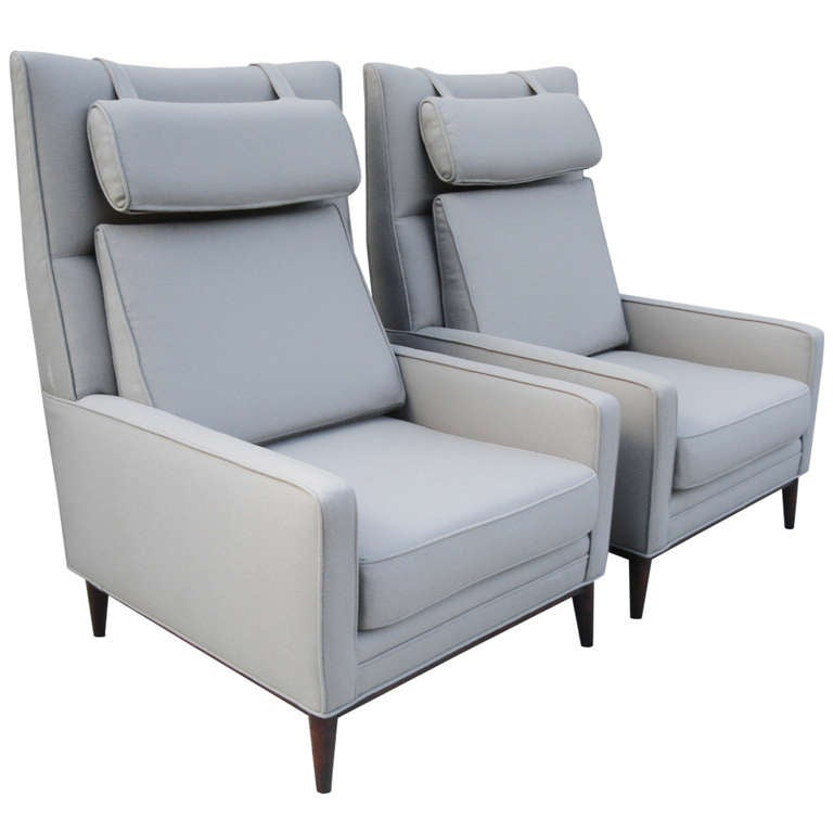 Pair of paul mccobb oversized architectural armchairs for for Oversized armchairs for sale